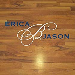 Wedding Dance Floor Monogram, Personalized Dance Floor Decal, Over 30 Colors and Several Sizes