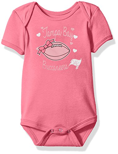 OuterStuff NFL Newborn Sunday Best Short Sleeve Onesie-Dark Pink-9 Months, Tampa Bay (Tampa Bay Buccaneers Infant Onesie)