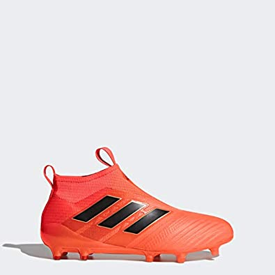 cdb93911547 adidas Ace 17+ Purecontrol FG Cleat - Men s Soccer 6.5 Solar Orange Core  Black