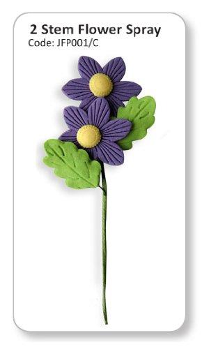 JEM Two Stem Flower Spray Purple