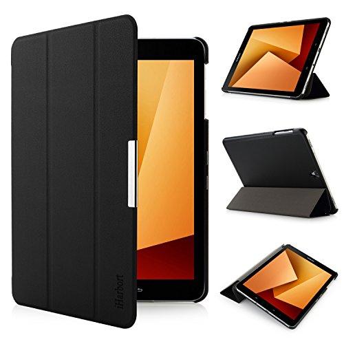 iHarbort Samsung Galaxy Tab S3 9.7 case (SM-T820 T825) - Ultra Slim Lightweight Smart-case Holder Stand Leather Case, with Smart Auto Wake/Sleep Function Black
