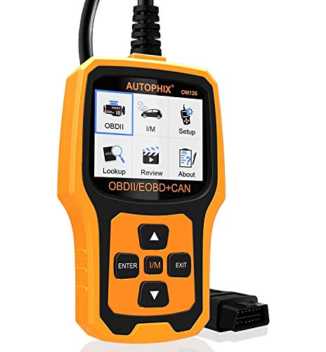AUTOPHIX Code Reader OM126 OBDII OBD2 Scanner Car Engine Fault Code Reader Auto Check Engine Light CAN Automotive Diagnostic Scan Tool - Yellow (Format Fixed Frame)