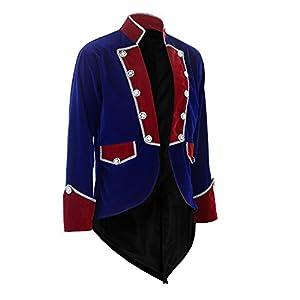 Darkrock New Men's Velvet Vladimir Tuxedo Jacket Tailcoat Goth Steampunk Victorian
