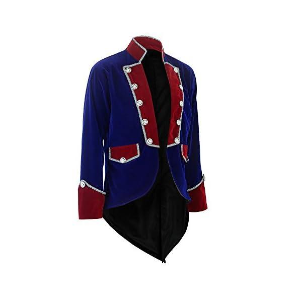 Darkrock New Men's Velvet Vladimir Tuxedo Jacket Tailcoat Goth Steampunk Victorian 4