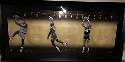 Michael Jordan Larry BIrd Magic Johnson TRIPLE Signed Autograph Legends Of Basketball FRAMED Hand Numbered 53/500 Upper Deck Certified