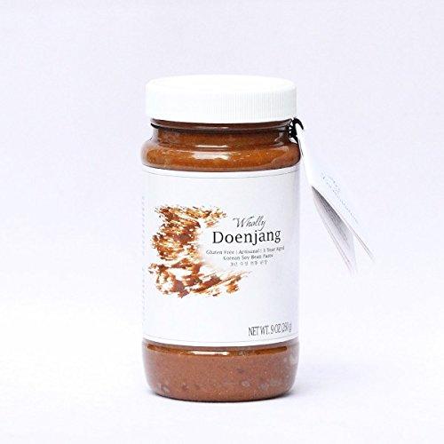 Wholly Doenjang, Premium Gluten-free Unpasteurized Artisanal 3 Year Aged Korean Soybean Paste (9 oz) (Soybean Paste)