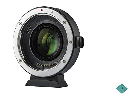 VILTROX EF-EOS M2 Auto Focus Lens Mount Adapter Ring 0.71X Focal Lenth Multiplier USB Upgrade for Canon EF Series Lens to EOS EF-M Mirrorless Camera for Canon EOS M/ M2/ ()
