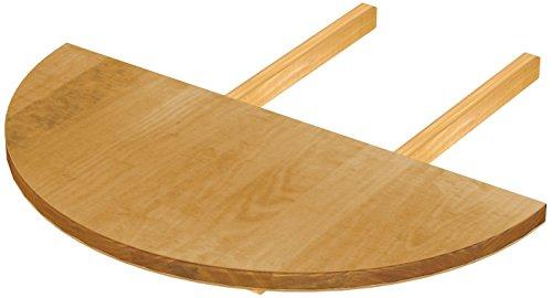 Ansteckplatten für Esstisch 'Rio Classico' und 'Rio Kanto' 40 x 80 cm rund, Pinie Massivholz Brasilmöbel Honig