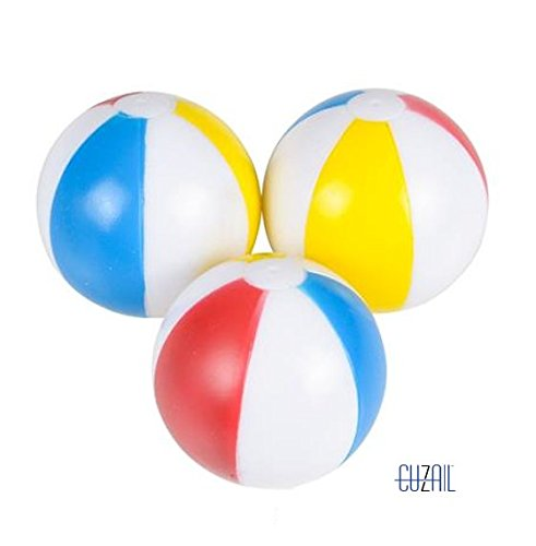 (CUZAIL Party Favors Party Supplies - 3'' Squirts- Pool- Bath- Beach Ball Gifts- Toys- Bulk 12 Pack Entertainment for Adults & Kids - Indoor &)