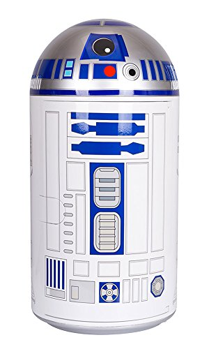 Disney Star Wars Mini Fridge, White/Blue, 14 L
