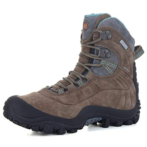(XPETI Women's Thermator Evo Mid High-Top Waterproof Hiking Outdoor Boot Brown 6)