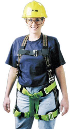 Miller by Honeywell E570-7/S/MRN DuraFlex Ms. Miller Harness with Elastomer Webbing, Mating Buckle Chest Leg Straps and Side D-Ring, Small/Medium -