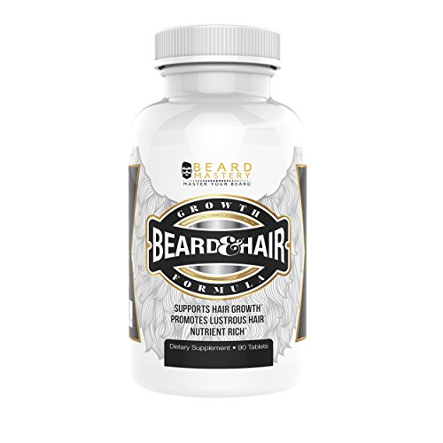 Beard Growth Vitamins for Men | Safe and Effective Formula for Facial Hair | Supplements for a Fuller and Thicker Beard | Premium Beard Grower, 90 Tablets, Made in the USA