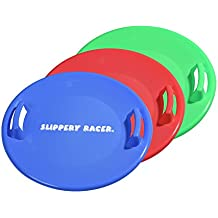 Slippery Racer Downhill Pro Saucer Disc Snow Sled - 3 PACK