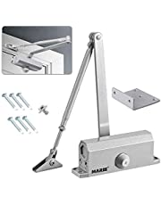 Marie Automatic Door Closer with Hold Open Function,for Residential and Commercial/Adjustable Spring Hydraulic Door Closer,for Regular Top Jamb Installation