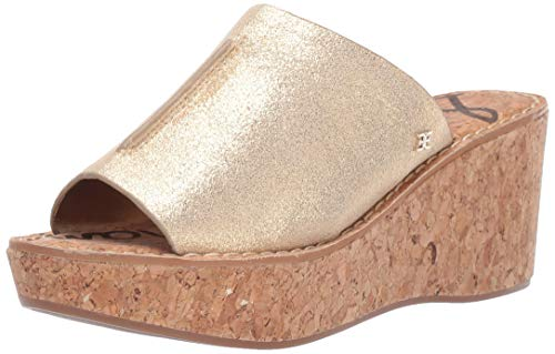 Sam Edelman Women's Ranger Sandal, Molten Gold, 6.5 M US