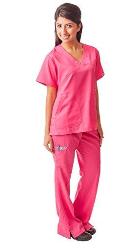 Dress A Med Womens Wrinkle Free Designer 2 Piece Scrub Set