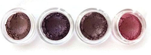 Grace My Face Minerals Glamour Quad Eye Shadow, All That Plum (Amethyst Plum)