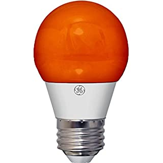 GE Lighting 23054 3-Watt LED 45-Lumen Party Light Bulb with Medium Base, Orange, 1-Pack