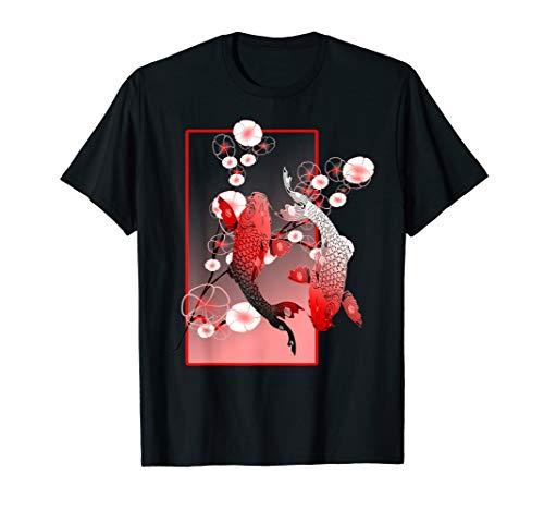 Japanese Koi Carp Nishikigoi Fish Cherry Blossom T Shirt