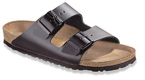 Birkenstock womens Arizona in Black from Leather Sandals 38.0 EU W