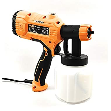 Electric HVLP Paint spray gun 450W -Ingco Portable Painting/Spraying Machine -Fast Air Painting Tool (Yellow) 9