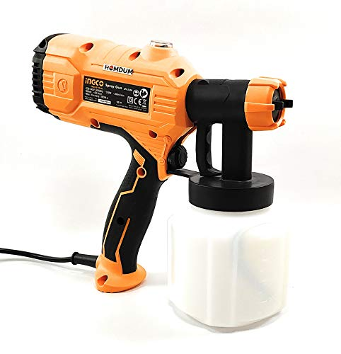 Electric HVLP Paint spray gun 450W -Ingco Portable Painting/Spraying Machine -Fast Air Painting Tool (Yellow) 3