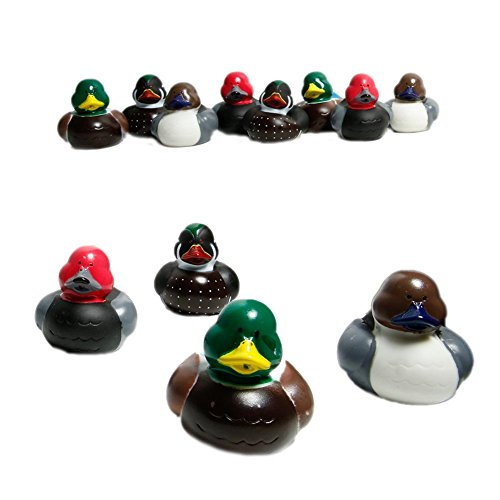 12 Mallard Decoy Rubber Ducks