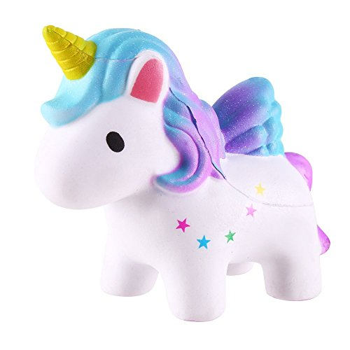 AmazinWads Muffins The Unicorn - Slow Rising Rainbow Squishy Kawaii Cute Scented Squeeze Toy for Kids or Stress Relief - Decorative Unicorn Animal Novelty Item