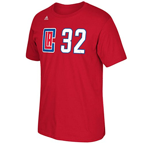 Blake Griffin Los Angeles Clippers NBA Adidas Player Red T-Shirt (Nba Player T-shirt)