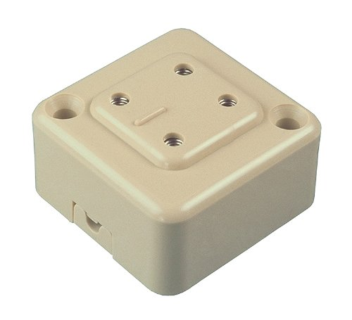 Allen Tel AT404B Plastic Square 4 Ports Telephone Outlet Jack, Ivory