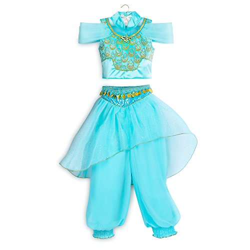 Disney Jasmine Costume for Kids - Aladdin Size 4 Blue428417791630 ()