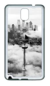 Seattle Space Needle Tower TPU Custom Samsung Galaxy Note 3/Note III/N9000 Case and Cover - White
