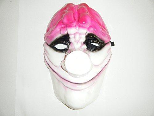 WRESTLING MASKS UK Men's Hoxton Payday 2 Heist Mask Fancy Dress Up Wrestling One Size Multicoloured]()