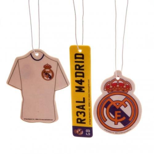 [해외]레알 마드리드 FC 3 팩 공기 청정기/Official Real Madrid FC 3 Pack Air Freshener