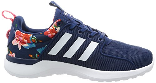 adidas Cloudfoam Lite Race, Chaussures de Course Femme Multicolore (Mysblu/ftwwht/shored)
