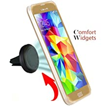 Car Mount Air Vent Cell Phone Holder. One Fits All. iPhone-Samsung-Google Nexus-LG-HTC-Sony-Motorola. Portable Adjustable-Does Not Obstruct Your Windshield-Strong Grip/Magnet-By Comfort Widgets(TM)