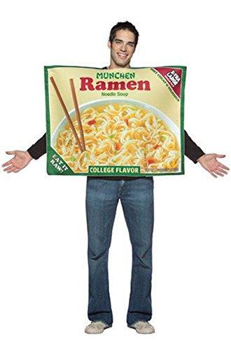 [Mememall Fashion Munchen Ramen Noodles Adult Costume] (Ramen Noodle Costumes)