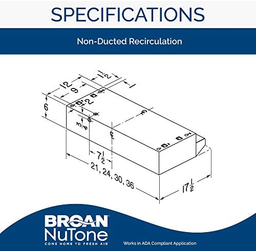 "Broan-NuTone 423001 30/"" White Duct Range Hood Inch"