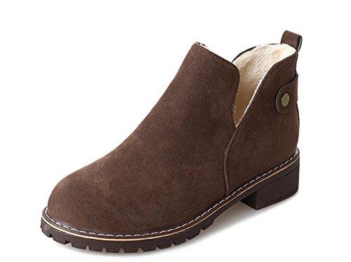 Invierno Caliente Mujeres Mujeres Plano Corea Zapatos Fondo Nieve Botas Los Además De Khaki Botas Las Encaje Terciopelo Salvaje Oaxnpw5qAH