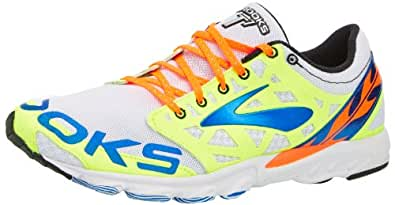 Brooks Unisex T7 Racer, Color: White/PassatGrey/Electric, Size: 11.5