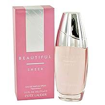 Beautiful Sheer Perfume by Estee Lauder for Women. Eau De Parfum Spray 2.5 Oz / 75 Ml.