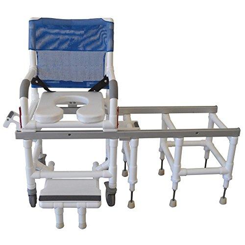 (MJM International D118-5-SLIDE All Purpose Shower/Transfer Chair One Step Lock System, 300 oz Capacity, Royal Blue/Forest Green/Mauve)
