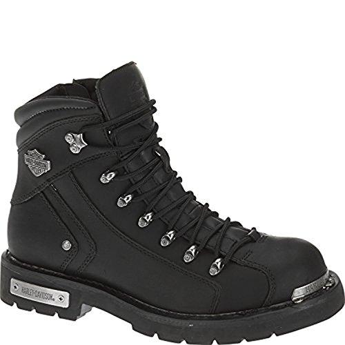 Harley Davidson Mens Electron Boots Black 07 5 M   Knit Cap Bundle