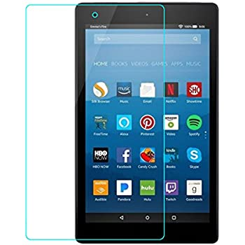 Jaorty All-New Fire HD 8 Screen Protector (2017/2016 Release) Tempered Glass Screen Protector for All-New Fire HD 8 Tablet (2017/2016 Release)
