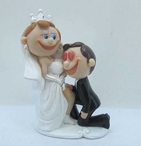 Brautpaar Hochzeitspaar Tortenaufsatz Tortenfigur Dekofigur 16
