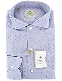 New Borrelli Blue Fancy Extra Slim Shirt