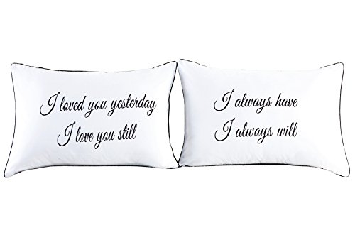 Couples Pillowcases-Valentines Day Gifts for Girlfriend Boyfriend,Cute Valentines Day Gifts, Wedding Gift Anniversary Gift,19x29Inch (21)