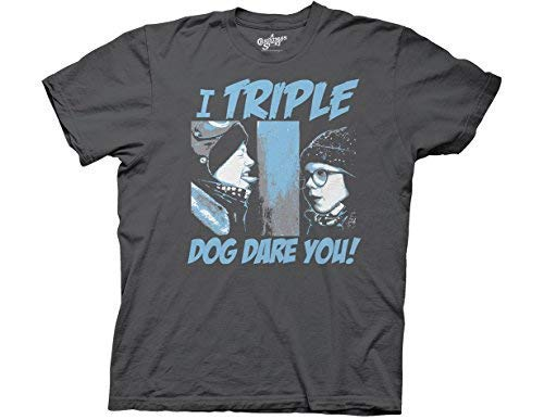 Ripple Junction A Christmas Story I Triple Dog Dare You Adult T-Shirt Small ()