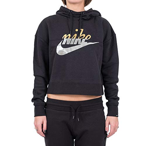 Donna Hoodie Nike Cappuccio W Felpa Metal Nsw Rally Nero Cpqwfqx0FT